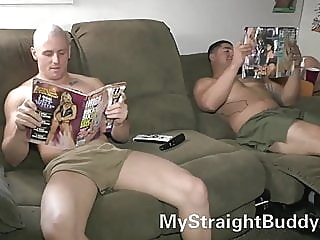 Straight Marine Buddies Nick and Brennan amateur (gay) big cock (gay) hunk (gay)