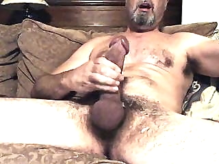 Hung hairy daddy with a big dick big cock (gay) daddy (gay) masturbation (gay)