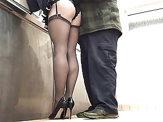 Totally caught in public toilets by lorry driver PART 2. amateur (gay) big cock (gay) crossdresser (gay)