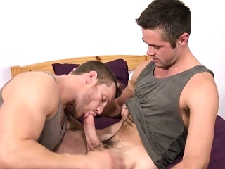 Dorm room jock take turns sucking blowjob (gay) gays (gay) handjob (gay)