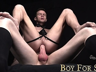 Young slave cums during bareback after serving master's cock bareback (gay) blowjob (gay) gays (gay)