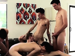 Getting a front-row seat to some of the hottest twink blowjob (gay) gays (gay) group sex (gay)