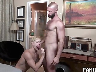 In the Closet - FD bareback bear blowjob