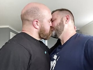 Two Hairy Dads get Naked Together amateur bear big cock