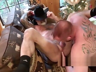 Ginger daady and silver daddy fuck very hot bareback bear blowjob