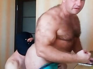 Byelorussian muscular escort man 2 bear daddy hunk