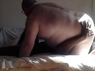 chub and interracial muscle bear blowjob daddy