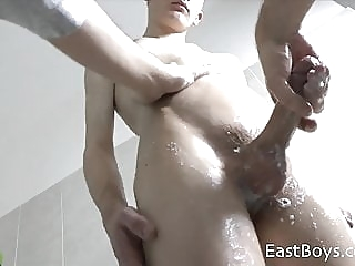 18 Boy - First Handjob - Part2 twink (gay) big cock (gay) cum tribute (gay)
