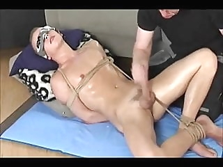 bdsm gay-boy gets handjob man (gay) gay porn (gay) bdsm (gay)