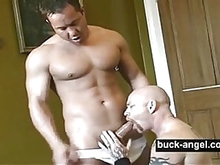 Muscled Transman Buck Angel and Rob Rodin muscle gay