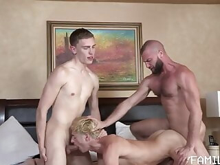 Sons ask for allowance bareback bear blowjob