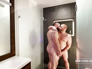 shower time bareback bear daddy